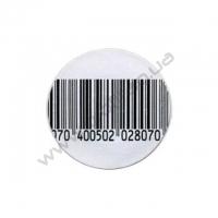 Защитная этикетка РЧ штрих-код круглая